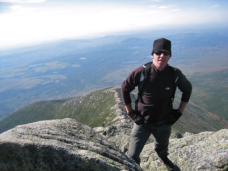 Bill Buck on Mount Katahdin, Maine