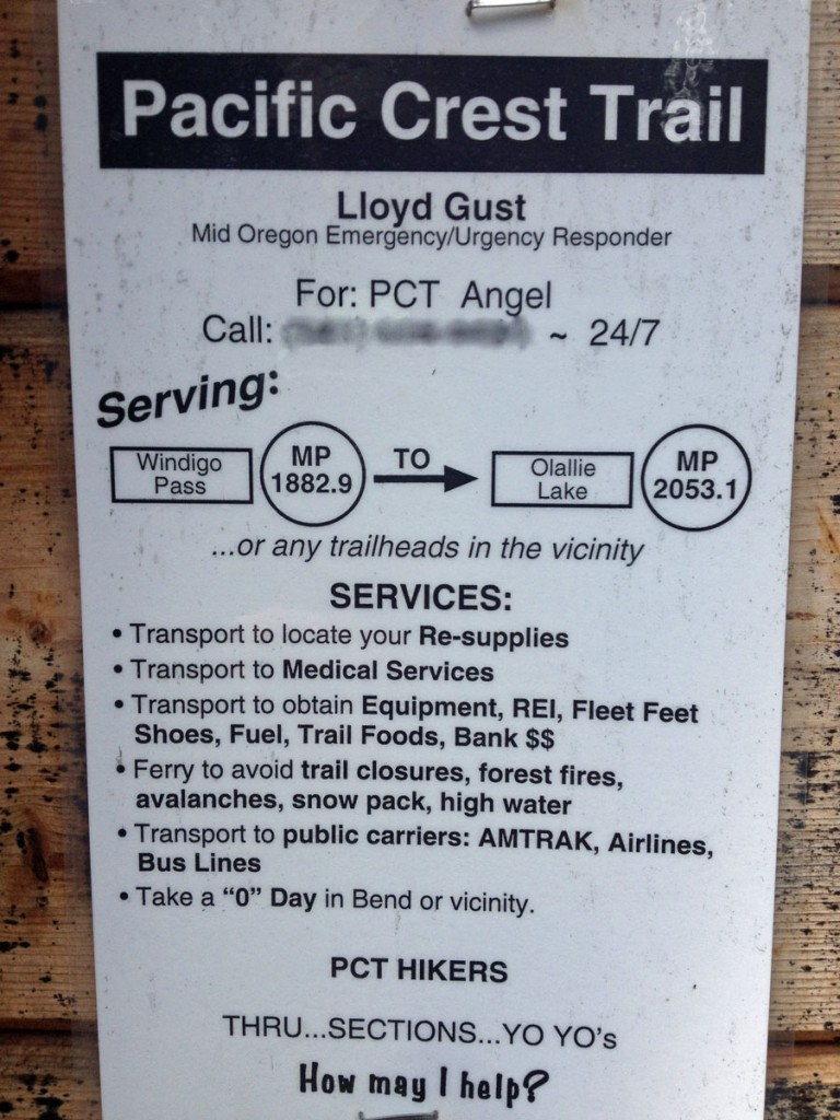 "A flier Lloyd posted at a popular PCT ""rest stop."""