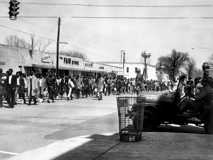 March 23, 1965 in Alabama, the third leg of the Selma to Montgomery march.  (courtesy AFP/Getty Images)