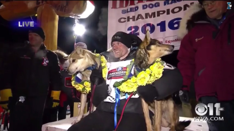 Iditarod 2016 finish line