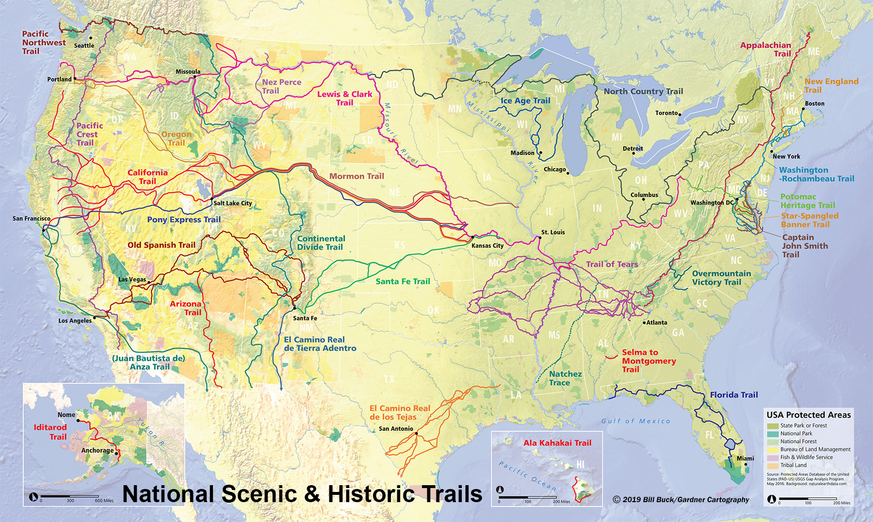 National Trails System Map – courtesy of National Park Service